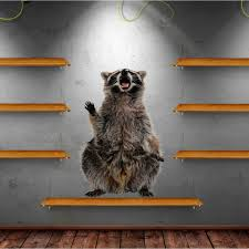 Shop Racoon Wall Decal Overstock 32178614