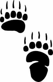 Grizzly Bear Track Footprint Sticker Paw Decal Ebay