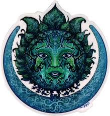 Green Goddess Window Sticker Decal Peace Resource Project