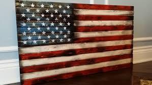 wood american flag wall art rustic