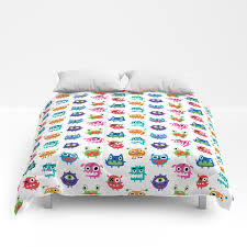 Monstrous Kids Room Comforters By Andibird Society6