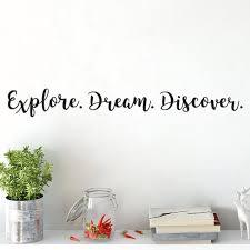 Explore Dream Discover Vinyl Wall Decal Living Room Teen Etsy