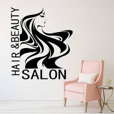 Amazon Com Wall Stickers Murals Beauty Salon Hair Lady Wall Window Decal Hairdresser Hairstyle Hair Hairdo Barbers Wall Window Sticker Vinyl Decor 65x56cm Baby