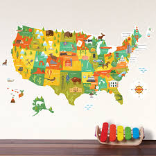 United States Map Wall Decal Walldecals Com