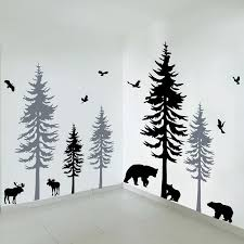 Huge Pine Tree With Birds Wall Decals Baby Room Vinyl Sticker Nursery Wall Art Nature Decor Woodland Forest Large Wall Sticker Buy At The Price Of 43 69 In Aliexpress Com Imall Com