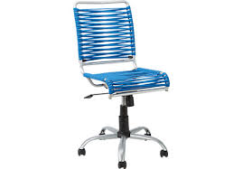 Bungee Twist Blue Desk Chair Microfiber