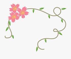 simple fresh fl decorative border