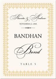 table cards buddhist hindu wedding