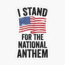 I Stand For The National Anthem Poster By Aurlextees Redbubble