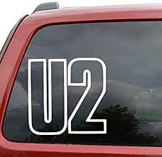 U2 Rock Band Car Window Vinyl Decal Sticker 15 Tall Green Color Amazon Co Uk Car Motorbike