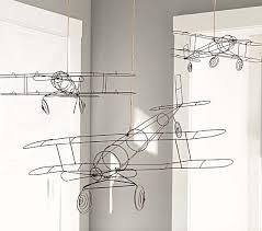 Wire Hanging Airplanes Airplane Nursery Boy Room Airplane Room