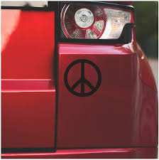 Amazon Com Underground Printing Historic Peace Sign Live Love 60 S Retro Symbol Vinyl Decal Sticker 5 Wide Black Automotive