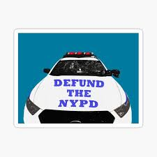 Defund The Police With Larger Text Sticker By Jennyholzer Redbubble