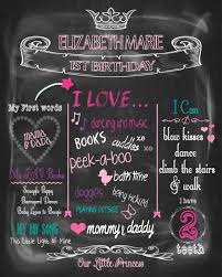 first birthday chalk board poster