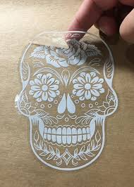Sugar Skull Version 38 Day Of The Dead Vinyl Wall Home Decor Car Window Decal Bumper Sticker Osmdecals Skull Decal Bumper Stickers Sugar Skull
