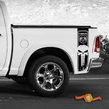 Dodge Ram 1500 2500 3500 Punisher Racing Stripe Hemi 4x4 Decal Truck Bed Sticker Vinyl