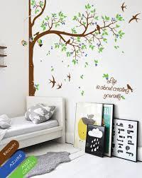 Personalized Corner Tree Wall Decal Decor Nursery Mural Sticker Kr065 Studioquee On Artfire