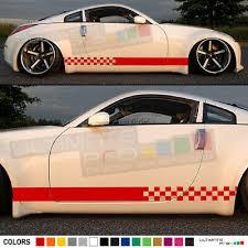 Sticker Decal Stripe For Nissan 350 Z Xenon Side Tail Rear Spoiler Light Head Ebay