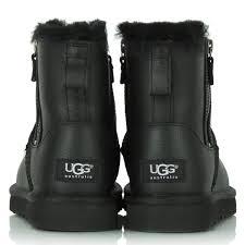 classic mini zip black leather women s boot