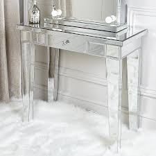mirror 1 drawer mirrored console table