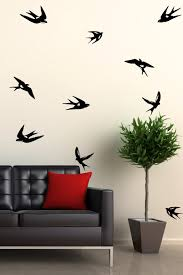 Flying Bird Silhouette 10 Pack Wall Decals 32 Colors Walltat Com
