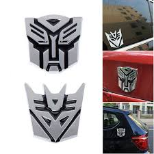 Transformers Autobots Decepticons 3d Emblem Badge Graphics Decal Car Sticker Ebay