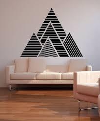 Geometric Mountains Vinyl Wall Decal Sticker Os Mb1247 Home Wall Decor Mountain Wall Decal Vinyl Wall