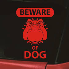 Beware Of Dog Car Style Decorating English Bulldog Dog Tired Dog Reflective Vinyl Decal Sticker Window Decal Sticker 15x11cm Car Stickers Aliexpress