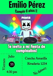 Marshmello Tarjeta Invitacion Digital Fortnite 150 00 En
