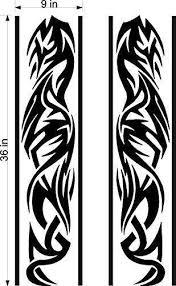 Stickerchef Tribal Stripe Car Decals Hood Decal Vinyl Sticker Graphic