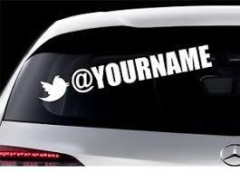 2x Custom Vinyl Twitter Sticker Decal Cars Van Shop Bands Businesses Name Ebay