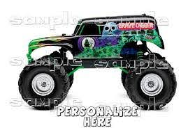 Monster Jam Grave Digger Decal Iron On Transfer By Welcomejungle2 3 50 Personalized Decals Monster Trucks Monster Jam
