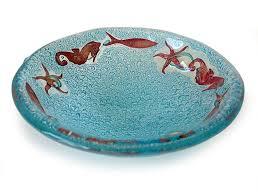 sea creatures 11cm fused glass bowl or