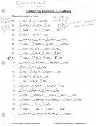 simple balancing equations worksheet