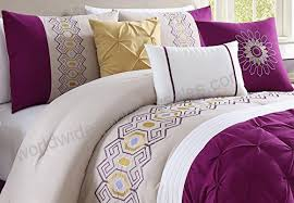 gold white king comforter set with