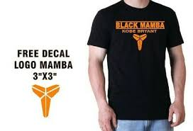 Kobe Bryant T Shirt Black Mamba Logo Decal Free Shirt Size S M L Xl Fashion Clothing Shoes Accessories Men In 2020 Black Tee Men Black Tee Shirts Kobe Shirts