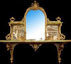 onyx and brass mirrored wall shelf