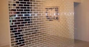 mirror brick wall brick wall brick