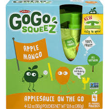 gogo squeez apple sauce fruit on the