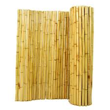 Backyard X Scapes 4 Ft H X 8 Ft W X 1 In D Natural Rolled Bamboo Fence Hdd Bf04 The Home Depot