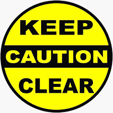 Caution Keep Clear Decal Multi Pack Clear Decals Clear Stickers Vinyl Graphics