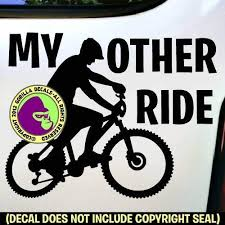 Amazon Com My Other Ride Mountain Bike Vinyl Decal Sticker B Handmade