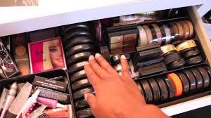 makeup room tour vanity mirror