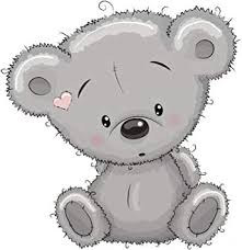 Amazon Com Adorable Stuffed Little Blushing Gray Teddy Bear Cub Vinyl Decal Sticker 8 Tall Automotive