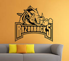 Amazon Com Arkansas Razorbacks Emblem Vinyl Decal Sticker Ncaa College Football Sport Home Interior Removable Decor 22 High X 28 Wide Kitchen Dining