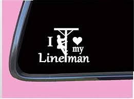 Amazon Com Yyone Car Sticker Car Window Decal I Love My Lineman Car Decal Bumper Sticker For Auto Cars Trucks Walls Windows Laptops Vinyl Decal Automotive