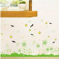 Green Pastoral Pentagram Garden Baseboard Wall Stickers House Star Bird Kids Room Bedroom Living Room Corridor Wall Decor Decals Mirror Wall Stickers Modern Wall Decal From Qiansuning88 55 92 Dhgate Com