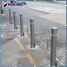 China Durable 800mm Tall Sidewalk Removable Post Stainless Steel Bollard Sleeve China Bollard Sleeve Car Stop Bollard