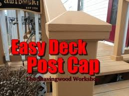 A Simple Deck Post Cap Youtube