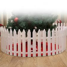 Christmas Decoration For Home White Plastic Picket Fence Miniature Home Garden Christmas Xmas Tree Wedding Party Decoration E Pendant Drop Ornaments Aliexpress